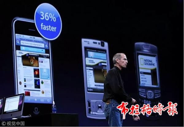 2008年,苹果之父乔布斯在介绍iPhone相较于传统手机的优势,智能手机时代真正到来。