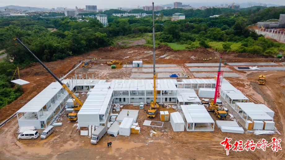 广州市国际健康驿站正紧锣密鼓地建设中。徐昊 摄